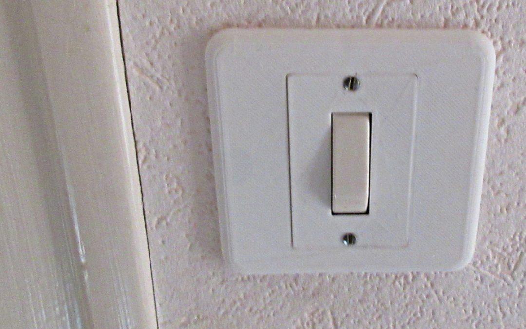 Une plaque d'interrupteur