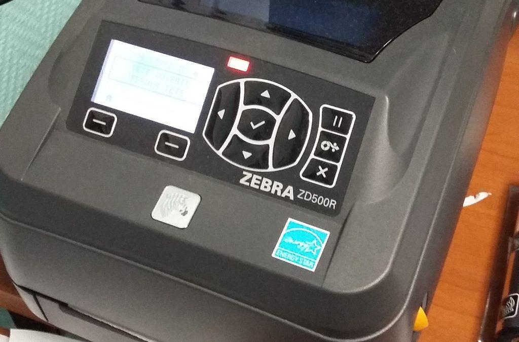 Le rouleau entraîneur d'une imprimante thermique