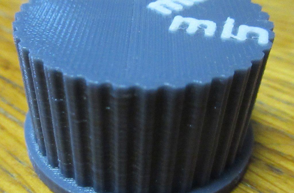 Bouton rotatif d'une gazinière