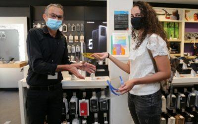Edition Vesoul Haute-Saône | Des visières pour être en contact avec les clients